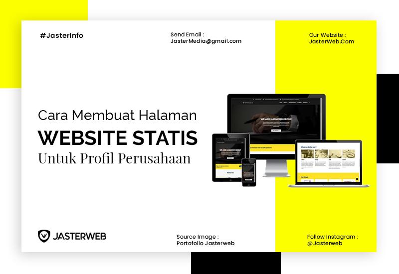 Cara Membuat Halaman Website Statis untuk Profil Perusahaan