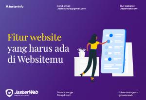 Fitur website yang harus ada di Websitemu
