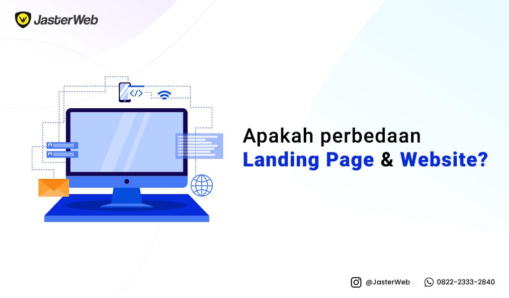 Apakah perbedaan landing page dengan website?